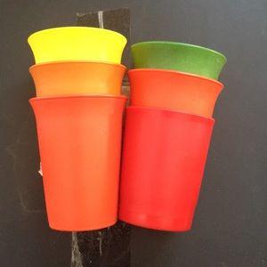 VTG Tupperware tumblers juice drink cups lot 6